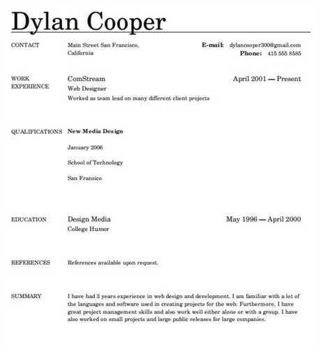 Resume Template Free Online. online resume examples resume ...