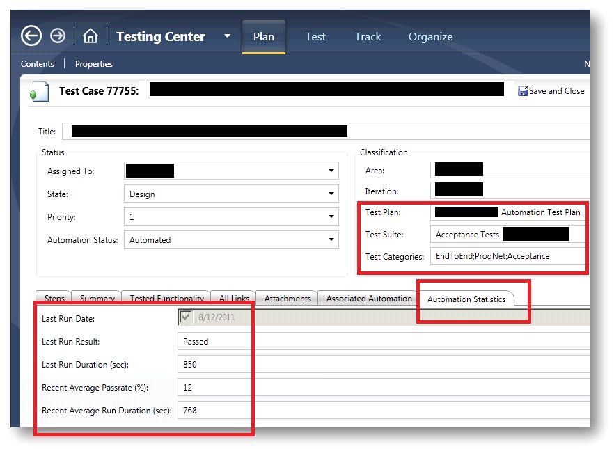 Customize your Test Case work item template to enable query on ...