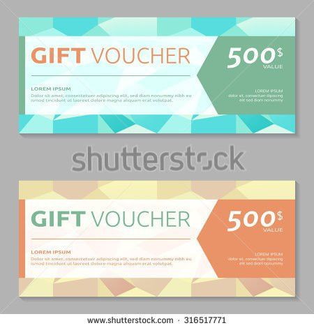 Gift Voucher Design Template Stock Vector 313817675 - Shutterstock