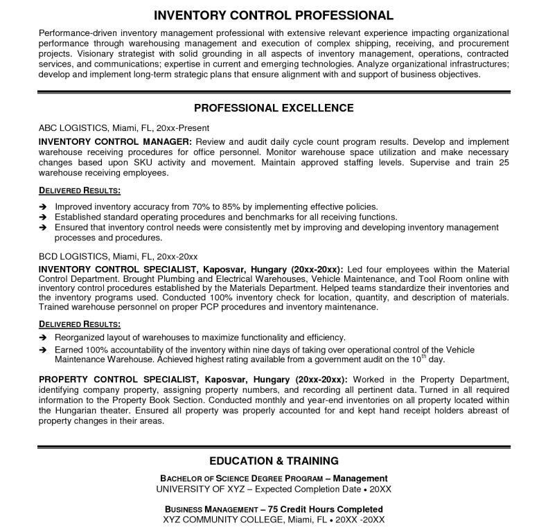 Warehouse Specialist Resume] Warehouse Specialist Resume 22