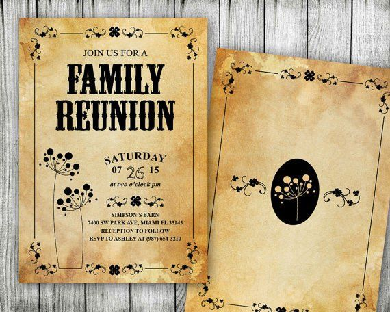 Items similar to Family Reunion Invitation ~ Printable Wild West ...