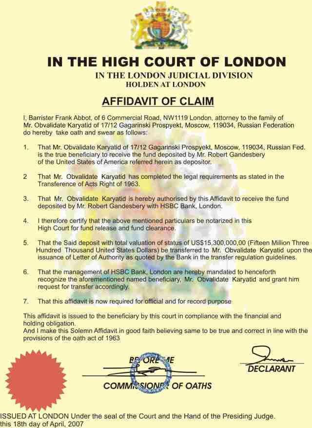 How to write an affidavit uk form create free general affidavit crooks in action jenson farrago frank abbot altavistaventures Images
