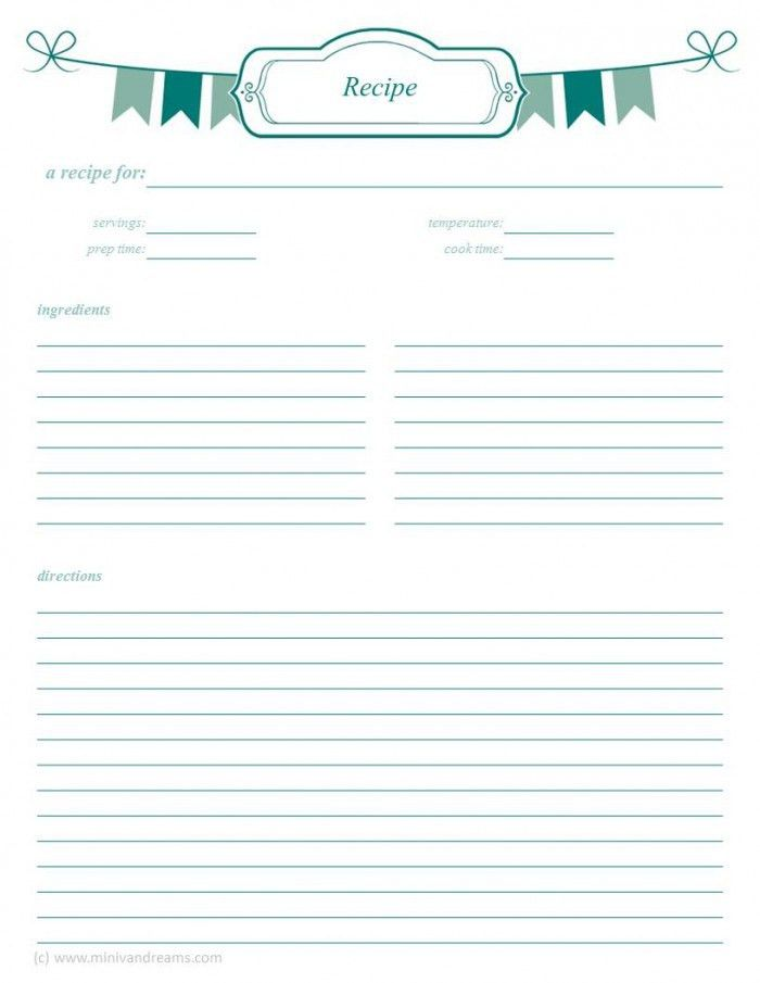 Meal Planning Binder: Recipe Pages | Binder, Recipe binders and ...
