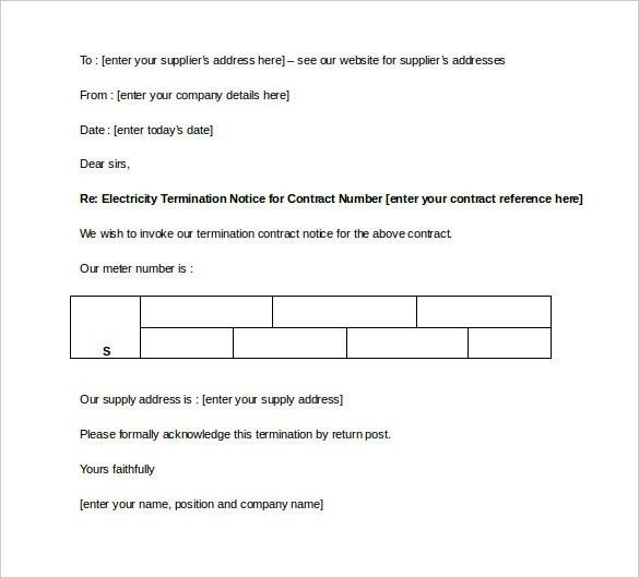 Contract Termination Letter Template - 17+ Free Sample, Example ...
