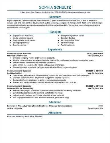 """Sample Communication Specialist <a href=""""http://resume.tcdhalls ..."""
