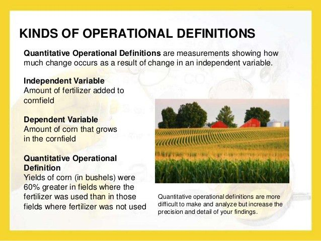 CCSS: Writing Operational Definitions