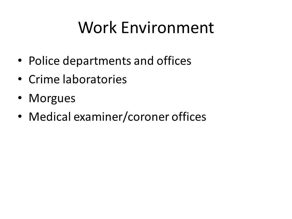 Forensic Video. Job Description Employment of forensic science ...