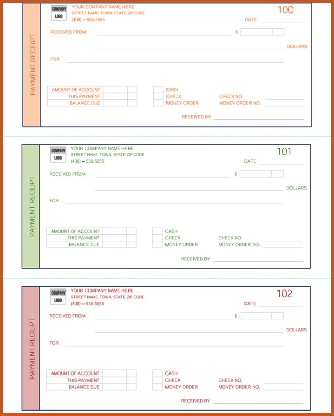 payment receipt template   sop example
