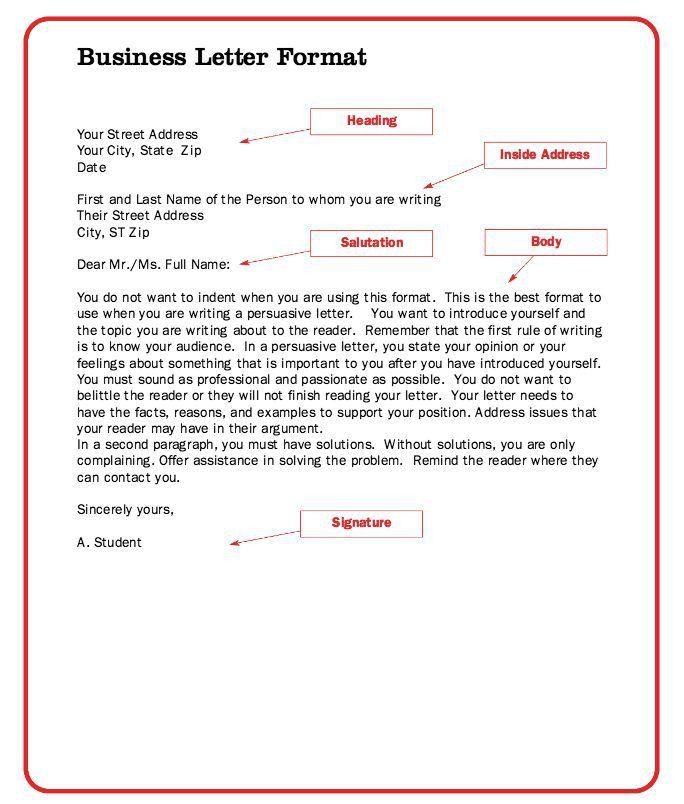 Best 25+ Formal business letter ideas on Pinterest   Formal letter ...