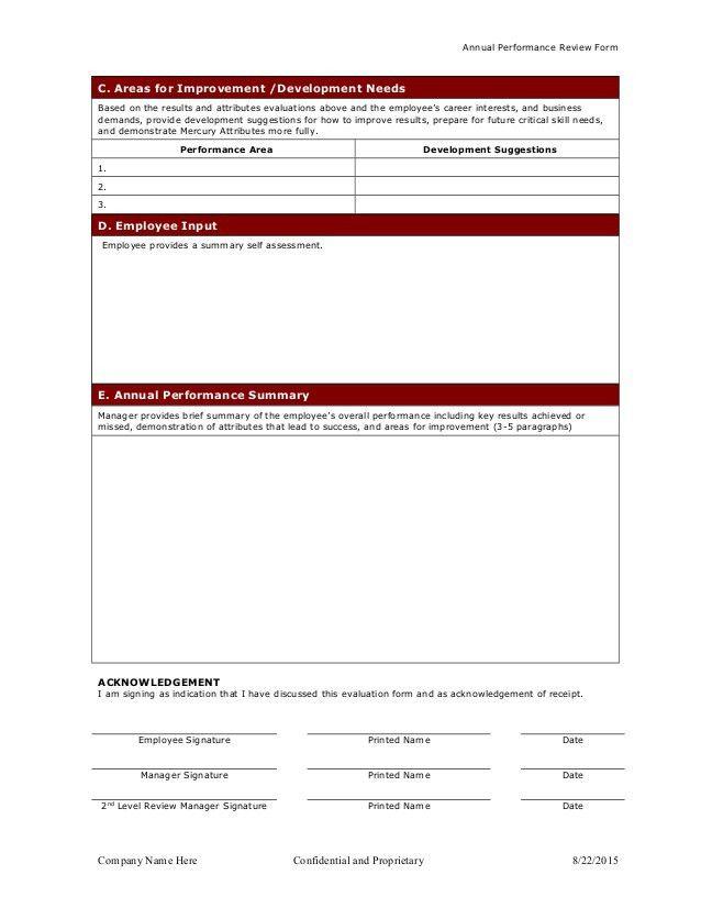 Quarterly Employee Review Template - Contegri.com