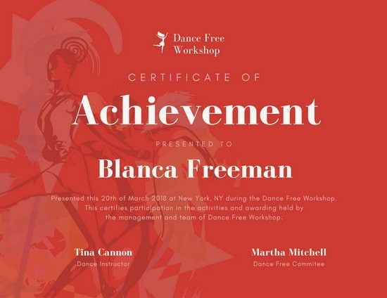 Achievement Certificate Templates - Canva