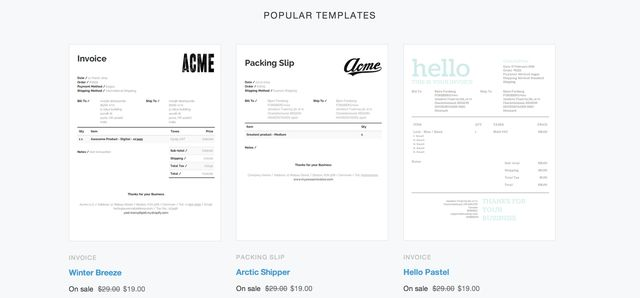 Better invoice & packing slip designs for Order Printer - Shopify ...