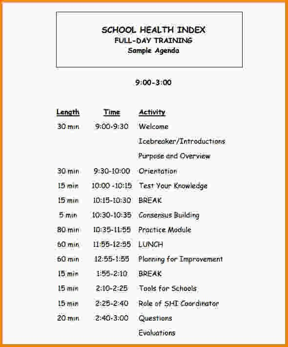 Training Agenda Template. Agenda Templates | Samples And Templates ...