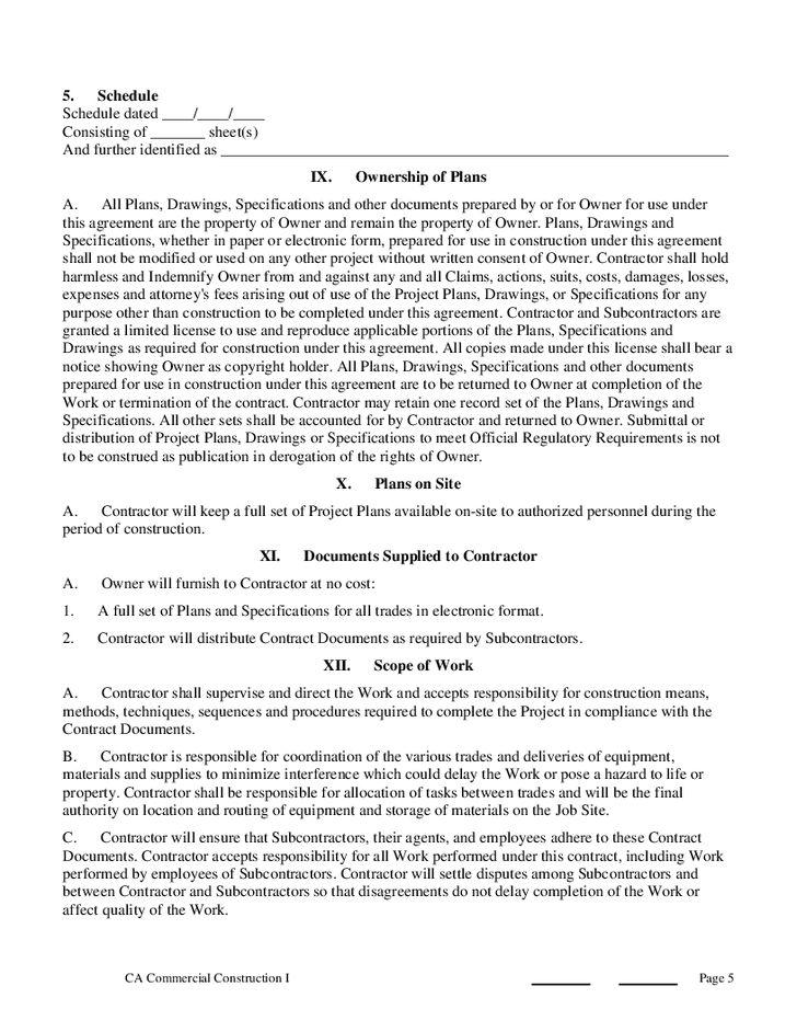Construction Contract Template - VL 1 - Hashdoc