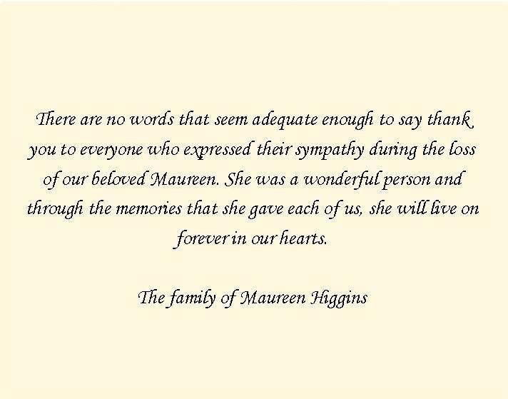 Thank You Cards - Funeral Prayer Cards and Memorial Cards ...