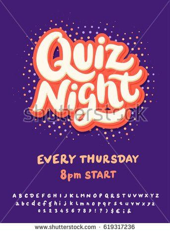 Quiz Night Poster Template Stock Vector 619317236 - Shutterstock