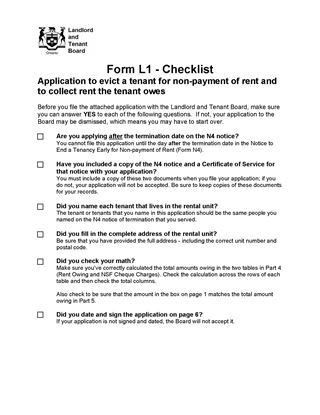 Ontario Landlord and Tenant Notice Forms | Legal Forms and ...