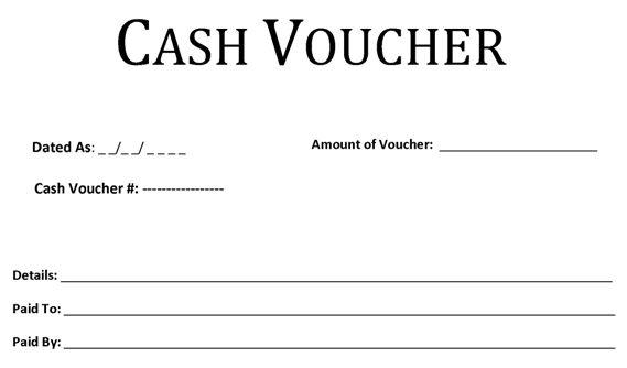 Cash Voucher Format