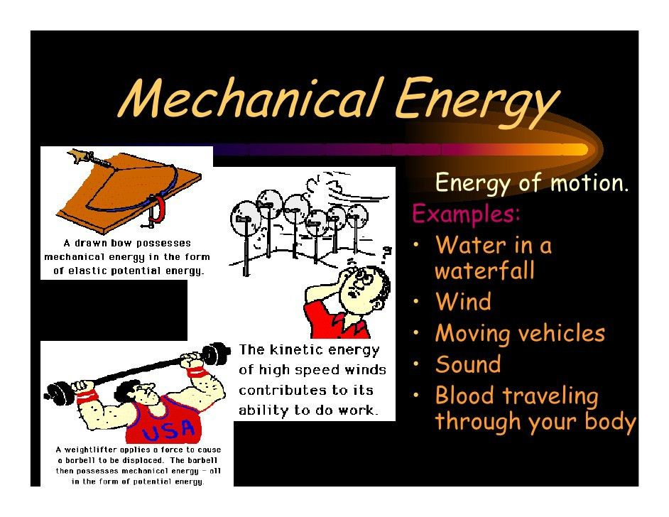 Example Of Mechanical Energy - #pr-energy