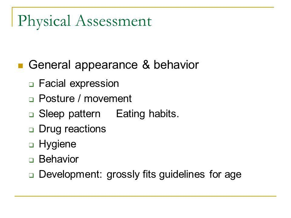 Pediatric Physical Assessment - ppt video online download