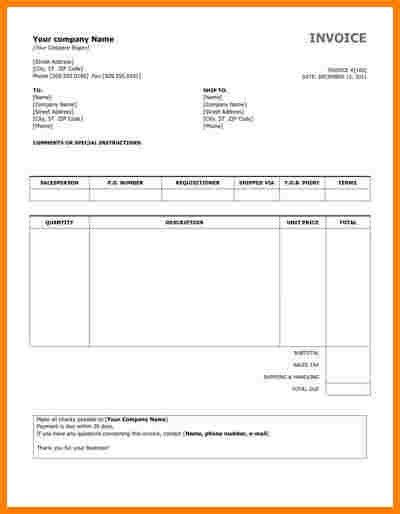 Sample Invoice. Rental Sample Invoice 20+ Blank Invoice Examples ...