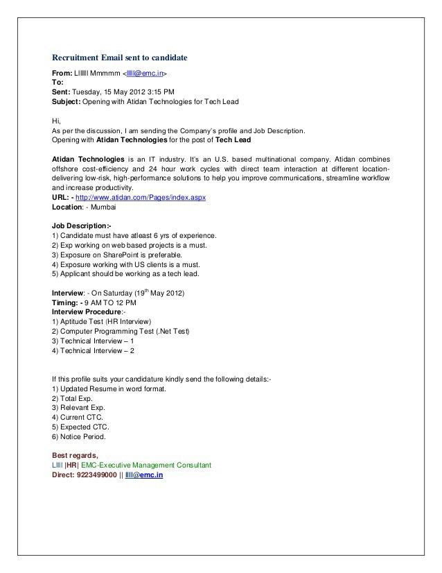 email for sending resume to hr sending cv and cover letter by