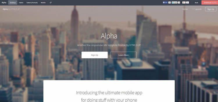 50 Free Responsive HTML5 Web Templates