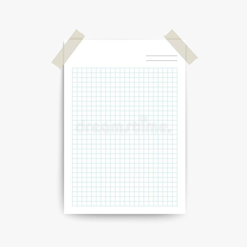 Blank Note Paper Template Stock Vector - Image: 45599974