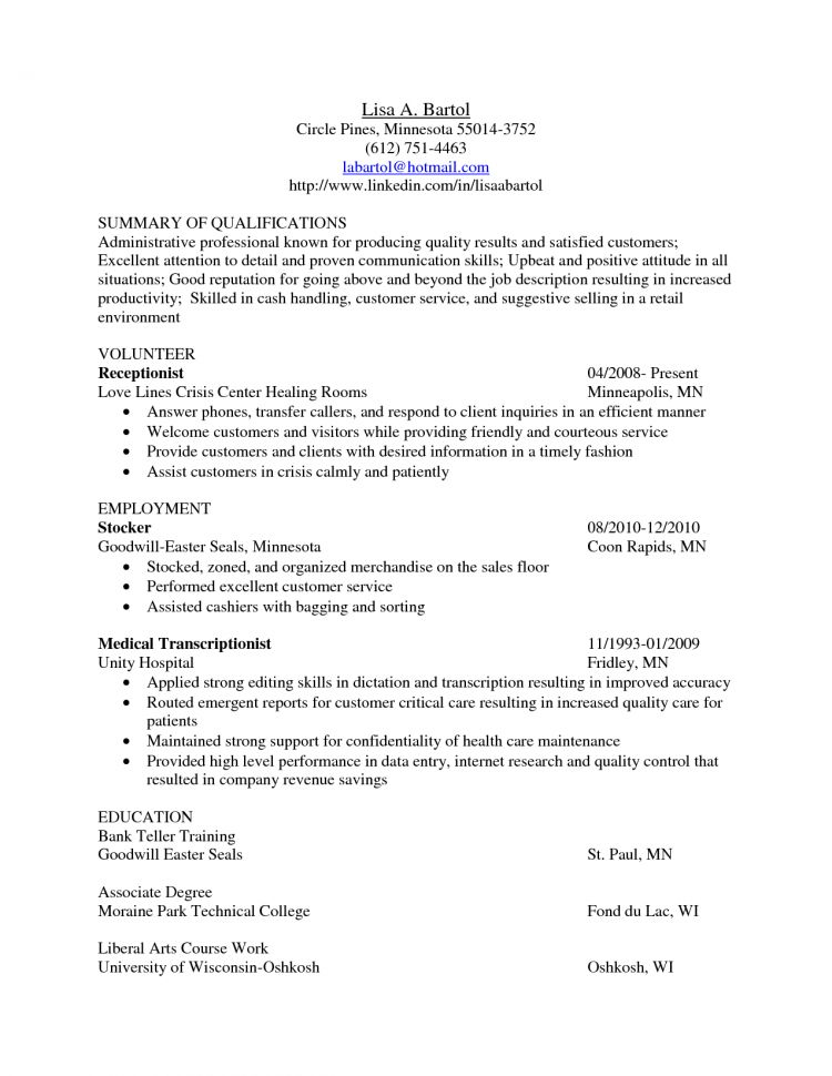 Medical Transcriptionist Cover Letter Examples Medical ...