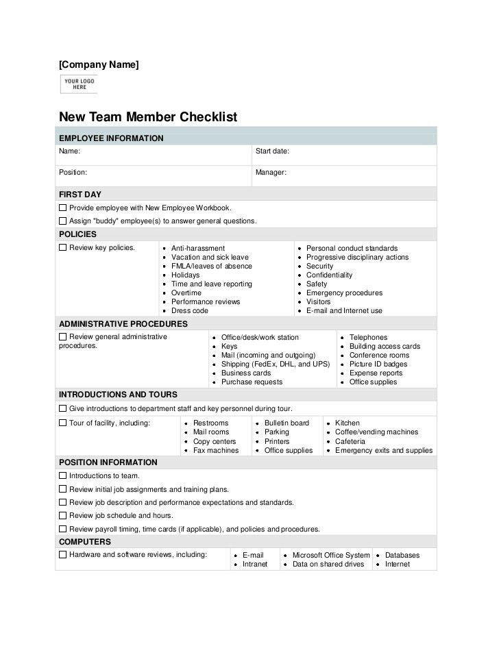 New Employee Orientation Checklist Template | Background Screening ...
