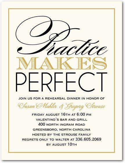 Wedding Rehearsal Dinner Invitations | badbrya.com