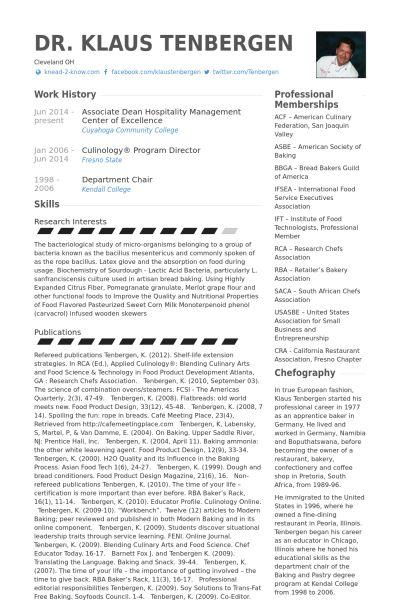 Hospitality Resume samples - VisualCV resume samples database