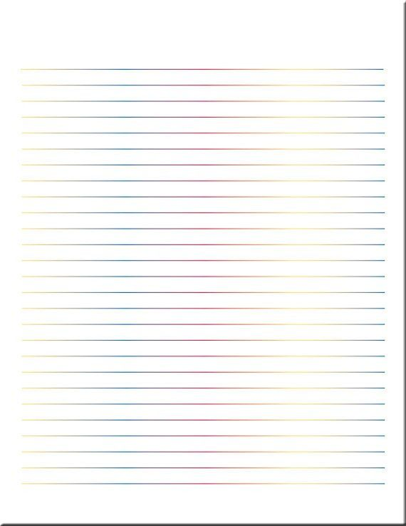 Multicolor Lined Paper / Lined Stationery / Writing Paper /