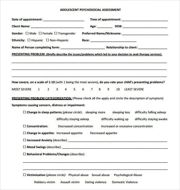 Amazing Psychosocial Assessment Ideas - Best Resume Examples for ...