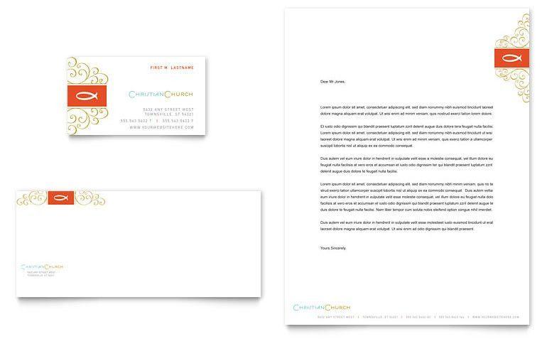 Church Letterhead Template. Business Card & Letterhead ...