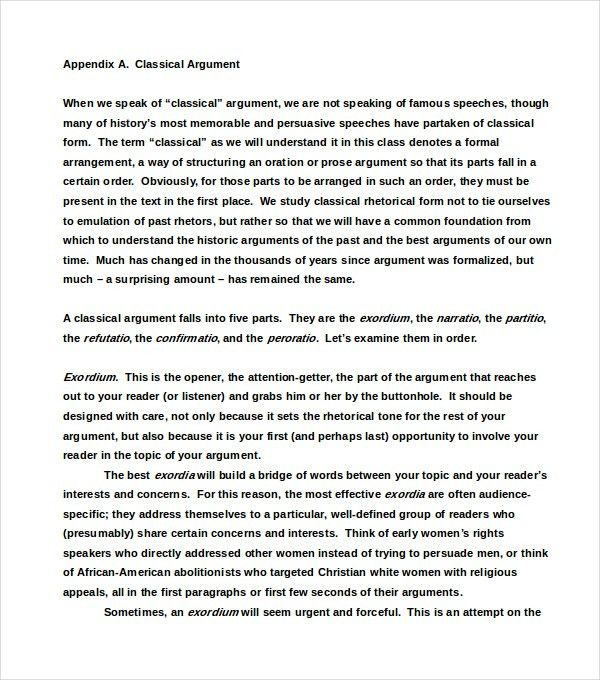 download argumentative essay sample examples - Argumentative Essay Sample Examples