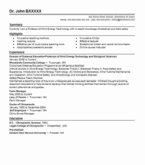 Best Professor Resume Example | LiveCareer