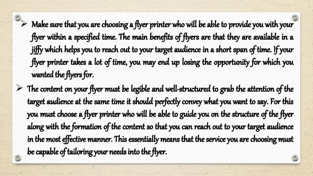 Tips to select an effective flyer printing and distribution service