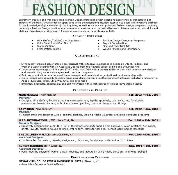Homey Design Fashion Resume Templates 10 Fashion Resume Templates ...