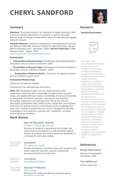 winning special education teacher resume sample wondrous resume