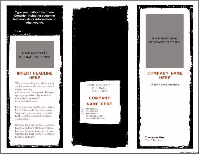 Blank Brochure Templates For Microsoft Word - Template Update234 ...