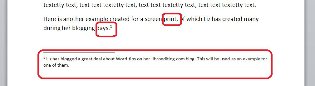 How do I add footnotes to a Word document? | LibroEditing ...