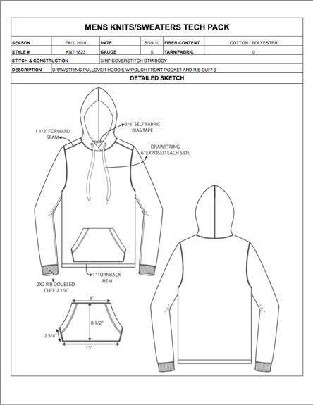 Menswear Design Detail Sheet Sample - Womens, Mens, Childrens ...