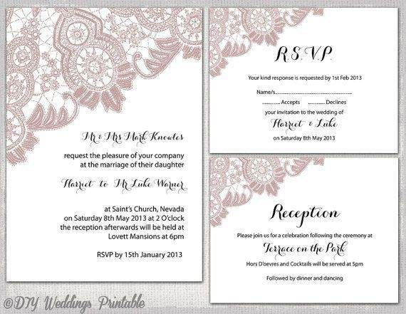 35 best Blush pink & gray wedding invite images on Pinterest ...
