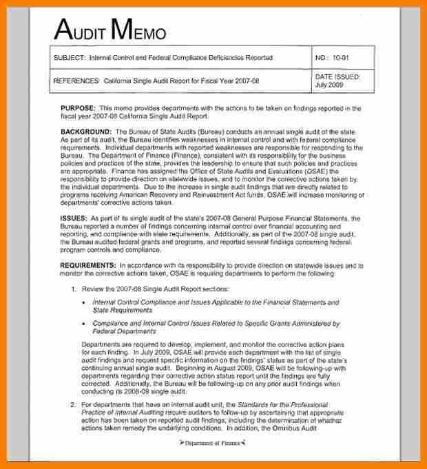 Audit Memo Template. 8 internal memo format budget template. bank ...