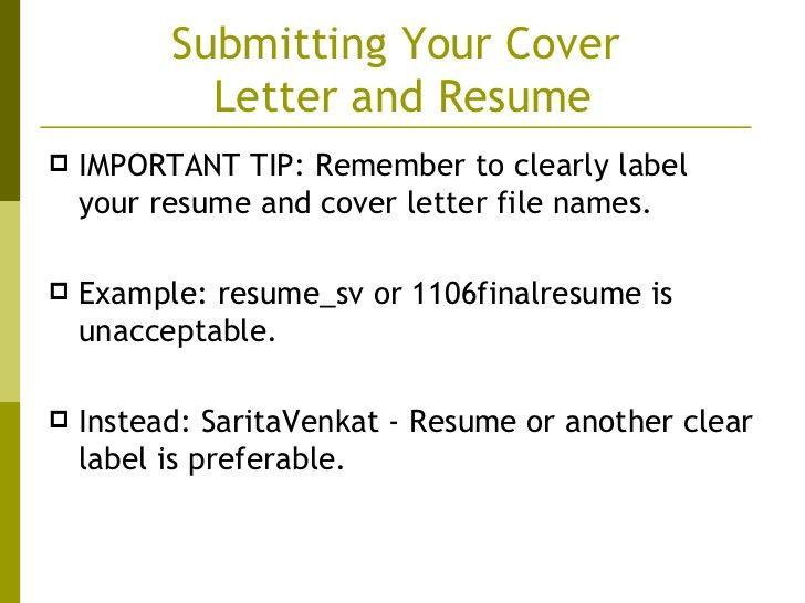resume label examples
