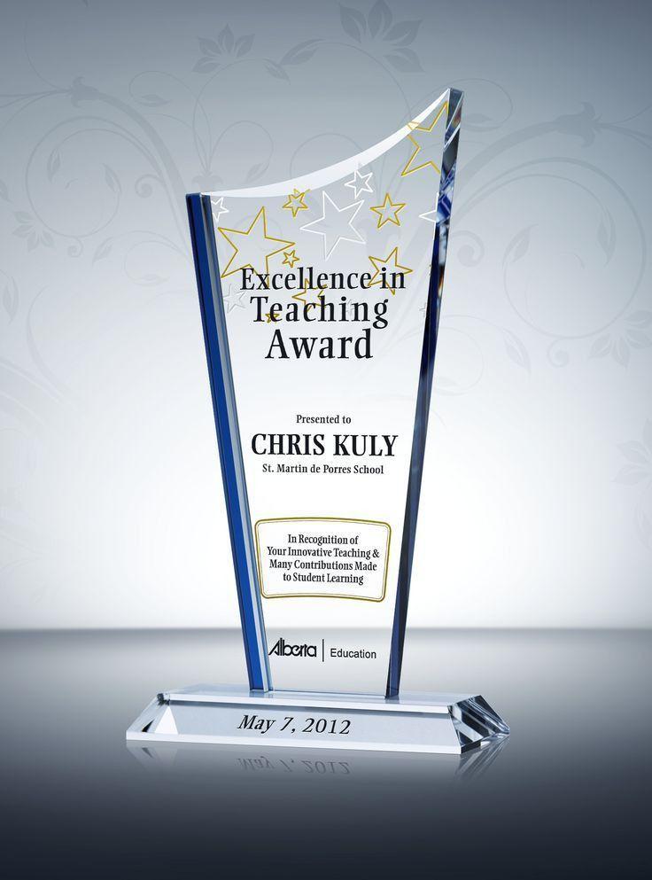 86 best Teacher Awards & Plaques images on Pinterest | Teacher ...