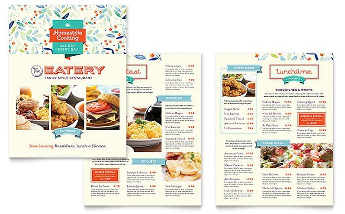 Lunch Menu Template Free Lunch Menu Template  Free Word Pdf Psd