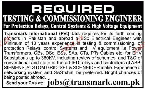 Testing & Commissioning Engineers Job Opportunity 2017 Jobs ...