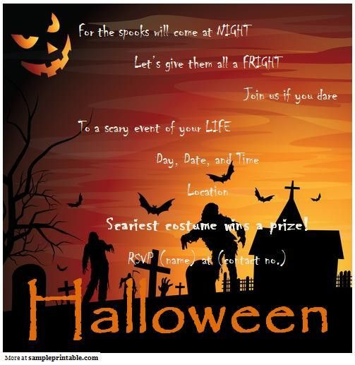 Halloween Party Invitation Templates Free – Festival Collections